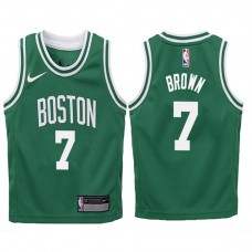 Youth 2017-18 Season Jaylen Brown Boston Celtics #7 Icon Green Swingman Jersey