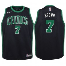 Youth 2017-18 Season Jaylen Brown Boston Celtics #7 Statement Black Swingman Jersey
