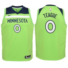 Youth 2017-18 Season Jeff Teague Minnesota Timberwolves #0 Statement Green Swingman Jersey