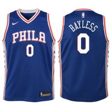 Youth 2017-18 Season Jerryd Bayless Philadelphia 76ers #0 Icon Blue Swingman Jersey