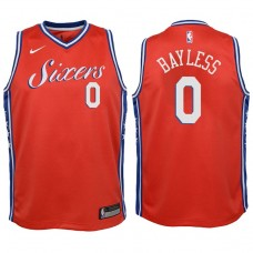 Youth 2017-18 Season Jerryd Bayless Philadelphia 76ers #0 Statement Red Swingman Jersey