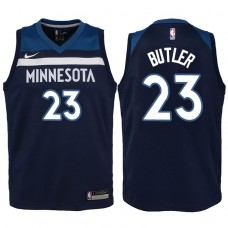 Youth 2017-18 Season Jimmy Butler Minnesota Timberwolves #23 Icon Navy Swingman Jersey