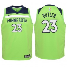 Youth 2017-18 Season Jimmy Butler Minnesota Timberwolves #23 Statement Green Swingman Jersey