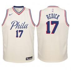 Youth 2017-18 Season J.J. Redick Philadelphia 76ers #17 City Edition Cream Swingman Jersey