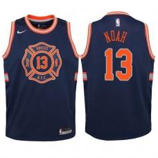 Youth 2017-18 Season Joakim Noah New York Knicks #13 City Edition Navy Swingman Jersey