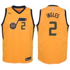 Youth 2017-18 Season Joe Ingles Utah Jazz #2 Statement Yellow Swingman Jersey