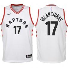 Youth 2017-18 Season Jonas Valanciunas Toronto Raptors #17 Association White Swingman Jersey