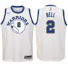 Youth 2017-18 Season Jordan Bell Golden State Warriors #2 Classic Edition White Swingman Jersey