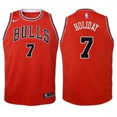 Youth 2017-18 Season Justin Holiday Chicago Bulls #7 Icon Red Swingman Jersey