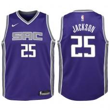 Youth 2017-18 Season Justin Jackson Sacramento Kings #25 Icon Purple Swingman Jersey