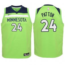 Youth 2017-18 Season Justin Patton Minnesota Timberwolves #24 Statement Green Swingman Jersey