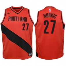 Youth 2017-18 Season Jusuf Nurkic Portland Trail Blazers #27 Statement Red Swingman Jersey