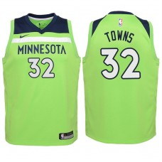 Youth 2017-18 Season Karl-Anthony Towns Minnesota Timberwolves #32 Statement Green Swingman Jersey