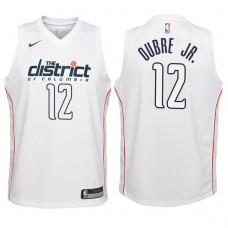 Youth 2017-18 Season Kelly Oubre Jr. Washington Wizards #12 City Edition White Swingman Jersey