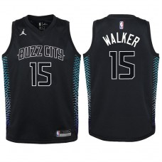 Youth 2017-18 Season Kemba Walker Charlotte Hornets #15 City Edition Black Swingman Jersey
