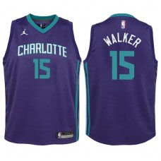 Youth 2017-18 Season Kemba Walker Charlotte Hornets #15 Statement Purple Swingman Jersey