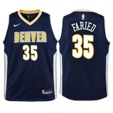 Youth 2017-18 Season Kenneth Faried Denver Nuggets #35 Icon Navy Swingman Jersey