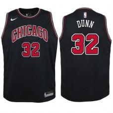 Youth 2017-18 Season Kris Dunn Chicago Bulls #32 Statement Black Swingman Jersey