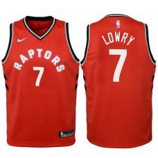 Youth 2017-18 Season Kyle Lowry Toronto Raptors #7 Icon Red Swingman Jersey