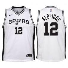 Youth 2017-18 Season LaMarcus Aldridge San Antonio Spurs #12 Association White Swingman Jersey