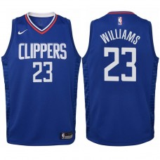 Youth 2017-18 Season Lou Williams Los Angeles Clippers #23 Icon Blue Swingman Jersey