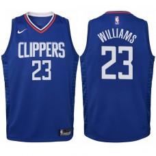 Youth 2017-18 Season Lou Williams Los Angeles Clippers #23 Icon Blue Swingman Jersey