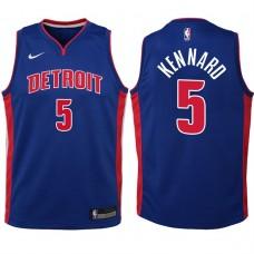 Youth 2017-18 Season Luke Kennard Detroit Pistons #5 Icon Blue Swingman Jersey