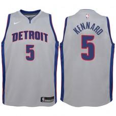 Youth 2017-18 Season Luke Kennard Detroit Pistons #5 Statement Gray Swingman Jersey