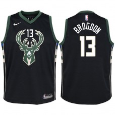 Youth 2017-18 Season Malcolm Brogdon Milwaukee Bucks #13 Statement Black Swingman Jersey