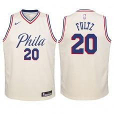 Youth 2017-18 Season Markelle Fultz Philadelphia 76ers #20 City Edition Cream Swingman Jersey