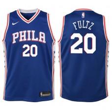 Youth 2017-18 Season Markelle Fultz Philadelphia 76ers #20 Icon Blue Swingman Jersey