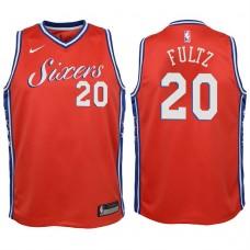 Youth 2017-18 Season Markelle Fultz Philadelphia 76ers #20 Statement Red Swingman Jersey