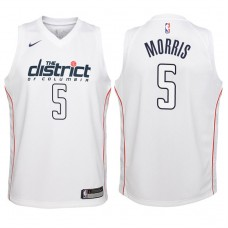 Youth 2017-18 Season Markieff Morris Washington Wizards #5 City Edition White Swingman Jersey