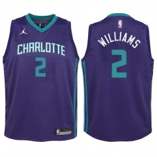 Youth 2017-18 Season Marvin Williams Charlotte Hornets #2 Statement Purple Swingman Jersey