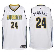 Youth 2017-18 Season Mason Plumlee Denver Nuggets #24 Association White Swingman Jersey