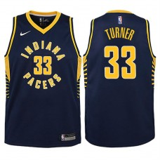 Youth 2017-18 Season Myles Turner Indiana Pacers #33 Icon Navy Swingman Jersey