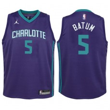 Youth 2017-18 Season Nicolas Batum Charlotte Hornets #5 Statement Purple Swingman Jersey