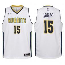 Youth 2017-18 Season Nikola Jokic Denver Nuggets #15 Association White Swingman Jersey