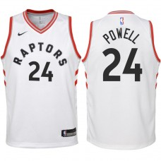 Youth 2017-18 Season Norman Powell Toronto Raptors #24 Association White Swingman Jersey
