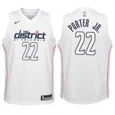 Youth 2017-18 Season Otto Porter Jr. Washington Wizards #22 City Edition White Swingman Jersey
