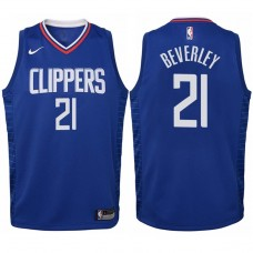 Youth 2017-18 Season Patrick Beverley Los Angeles Clippers #21 Icon Blue Swingman Jersey
