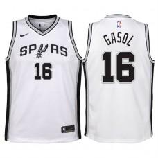 Youth 2017-18 Season Pau Gasol San Antonio Spurs #16 Association White Swingman Jersey