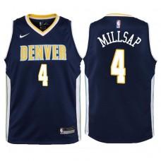 Youth 2017-18 Season Paul Millsap Denver Nuggets #4 Icon Navy Swingman Jersey