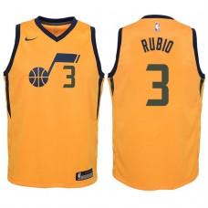 Youth 2017-18 Season Ricky Rubio Utah Jazz #3 Statement Yellow Swingman Jersey