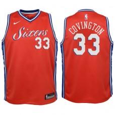 Youth 2017-18 Season Robert Covington Philadelphia 76ers #33 Statement Red Swingman Jersey