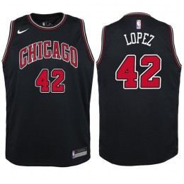 Chicago Bulls #42 Robin Lopez NEWCity Edition Swingman Jersey