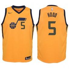 Youth 2017-18 Season Rodney Hood Utah Jazz #5 Statement Yellow Swingman Jersey