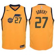 Youth 2017-18 Season Rudy Gobert Utah Jazz #27 Statement Yellow Swingman Jersey