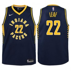 Youth 2017-18 Season T.J. Leaf Indiana Pacers #22 Icon Navy Swingman Jersey