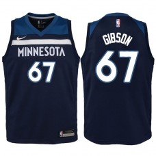 Youth 2017-18 Season Taj Gibson Minnesota Timberwolves #67 Icon Navy Swingman Jersey